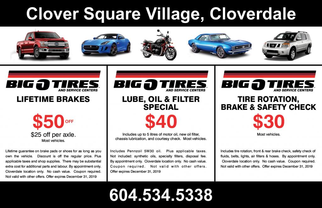 Current Specials Big O Tires Langley